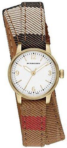 Burberry Nova Check Quartz Analog Double Wrap Strap Watch# BU7851 (Women Watch)