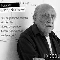 Natural do Rio de Janeiro, Oscar Niemeyer (15/12/ 1907 — 5/12/ 2012) é considerado uma das figuras-chave para o desenvolvimento da arquitetura moderna. Reconhecido por seus projetos de edifícios cívicos em Brasília, Niemeyer explorou as possibilidades construtivas do concreto armado, sendo altamente influente para a arquitetura do final do século XX e início do século XXI. Orgulho nacional, Niemeyer foi um grande artista e um dos maiores arquitetos de sua geração.