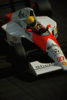Ayrton Senna da Silva (BRA) (Honda Marlboro McLaren), McLaren MP4/5B - Honda RA100-E 3.5 V10 (finished 1st)  1990 Italian Grand Prix, Autodromo Nazionale Monza