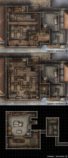 Fantasy Battle, Fantasy Map, Dnd World Map, Cartographers Guild, Building Map, Rpg Map, Creepy Houses, Grid, Medieval