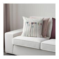 SKOGSNÄVA Kussenovertrek, beige, roze beige/roze 50x50 cm