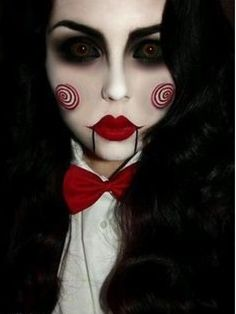 Jigsaw's Billy the Puppet from the Saw movies - Halloween costume and makeup