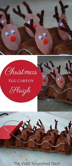 Egg Carton Reindeer