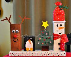Resultado de imagen para diy plank crafts reindeer