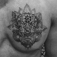 Aztec Jaguar Warrior for Alvaro #aztec #aztecmask #jaguar #aztectattoo #ornamentaltattoo #btattooing #ornaments #sketchtattoo #brasil #belohorizonte #polishtattoo #blackworkers #blackworkerssubmission #blackworktattoo #tattoo #tattoos