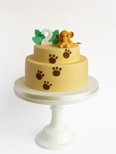 Lion King Cake ideas - Samuel's First Birthday Baby Cakes, Cupcake Cakes, Cupcakes, Lion Party, Lion King Party, Lion Cakes, Lion King Cakes, Simba Y Nala, Bolo Da Peppa Pig