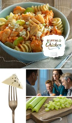 Served hot or cold, this Buffalo Chicken Pasta Salad will be the salad ...