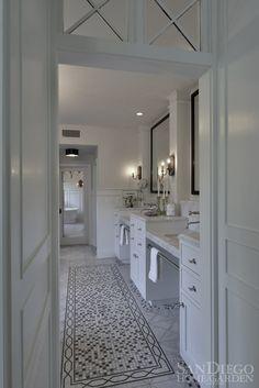 2013 Bath of the Year Winner designed by Kristin Lomauro  #bathroom #tile