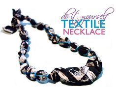 Make an Upcycled Fabric Necklace as a Last-Minute Gift (for you, friend or family)