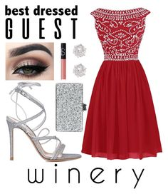 """Vineyard Wedding"" by jillibean0025 on Polyvore featuring Gianvito Rossi, NARS Cosmetics, River Island, Edie Parker, napa, winerywedding, bestdressedguest and vineyardwedding"