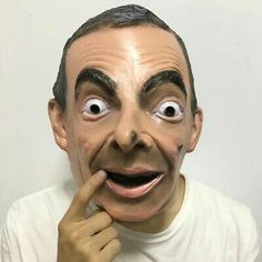 Molezu Halloween Realistic Mr Bean Latex Mask Full Head Human Mask Adult Face Ma | eBay Realistic Halloween Masks, Halloween Face Makeup, Donald Trump Obama, Mr Bean, Head Mask, Festival Party, Cosplay Costumes, Halloween Party, Party Supplies