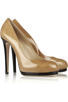 Two-tone patent-leather pumps by Oscar de la Renta