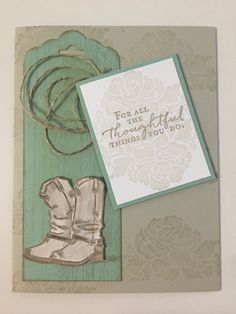 Stampin' Up! Floral Phrases meets Country Livin'.