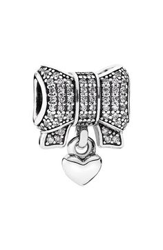 PANDORA Bow   Heart Dangle Charm available at  Nordstrom Diety fceb7a5fa41