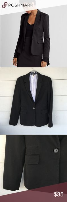 "Express Black Blazer Size 8 This size 8 black blazer from Express is on point. Perfect for business or just fancy occasions. 25"" long 24"" sleeve. Like new with polka dot lining. Love this item, but not the price? Make me an offer. Or, I have lot's of things in my closet. Bundle and Save! Happy Poshing! Express Jackets & Coats Blazers"