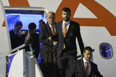 #Spain arrives in #Brazil. #soccer #style #fashion #suit #worldcup www.thestyleref.com