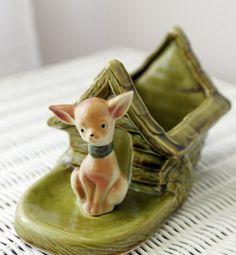 Shawnee pottery Chihuahua planter