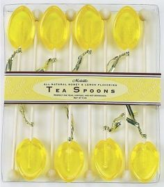 8 Pack of Honey and Lemon Naturally Flavored Tea Spoons
