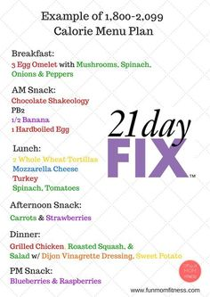 1000+ images about 1800 - 2099, 21 Day Fix Meal Plans on ...