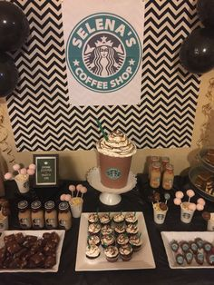 Super cake desing for teens girls party ideas Ideas 13th Birthday Party Ideas For Girls, 18 Birthday, Sleepover Birthday Parties, Birthday Celebration, Birthday Party Themes, Teen Party Themes, Teen Parties, Ideas Party, Starbucks Birthday Party