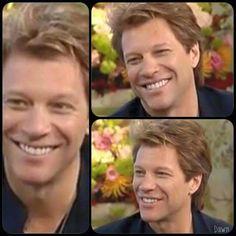 Jon Bon Jovi flashing a smile that can light up a room :-D