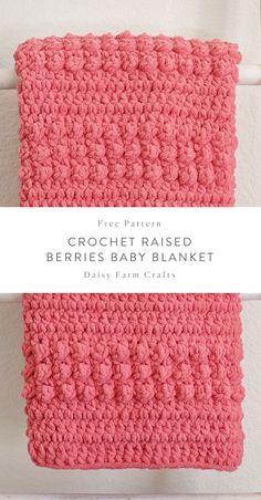 Free Pattern - Crochet Raised Berries Baby Blanket