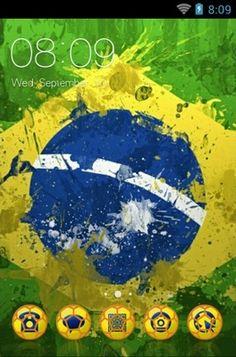"""Brazil Theme"" Android Theme. Free download  http://androidlooks.com/theme/t0132-brazil-theme/  #Brazil, #windows7, #gadgets, #desktop"