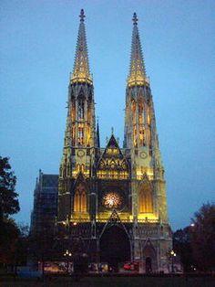 The Votive Catholic Church of the Sacred Heart ~ Vienna, Austria