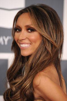 caramel highlights on brown hair
