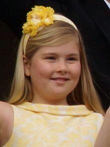 Photo of Catharina-Amalia Beatrix Carmen Victoria, Princess of Orange, heir apparent to the crown of The Netherlands (b. 12-7-03)