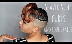 Style For Shaved Sides [Video] - http://community.blackhairinformation.com/video-gallery/relaxed-hair-videos/style-shaved-sides-video/