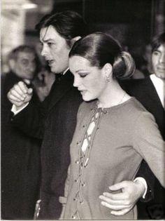 """Romy Schneider et Alain Delon à la Première du film """"La Piscine"""" -"""