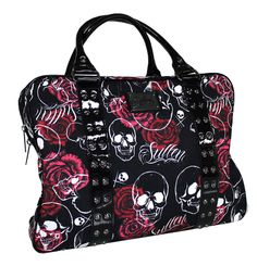 Sullen Art Collective Angels SA Rose Skull Canvas Bag with Graphic Screen Art #Sullen