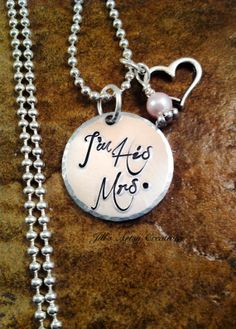 Personalized Bride Necklace Groom Gift for by JillsArtsyCreations, $25.00