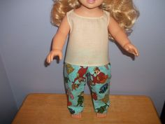 American 18 Inch Doll Clothes Off white Top and Flannel Yogi Bear Pants by…