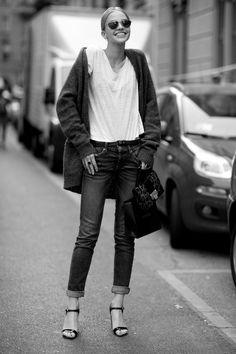 Sasha Luss - Street Style, MFW Spring 2015.