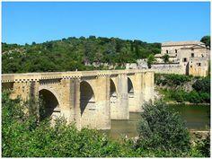 Pont St Nicolas sur le Gardon, Gard, France