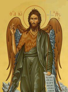 John the Baptist Byzantine Icons, John The Baptist, Religious Icons, Orthodox Icons, Pilgrimage, Saints, Greek, San Francisco, Foundation