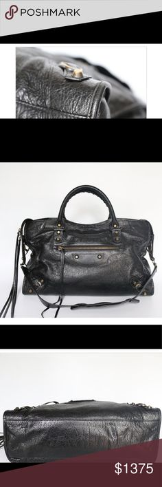 Authentic Pre-loved Balenciaga Classic City You are looking at an Authentic pre-loved Balenciaga Classic City bag in black. This bag retails for 1,835 + tax, has been gently used and is in excellent condition. Included is the bag, original dust bag, copy of receipt and mirror. Please feel free to contact for more info or pictures. Happy shopping! Balenciaga Bags