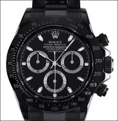 PVD Rolex Daytona Chronograph - All Black by Bamford & Sons | @ professionalwatches.com