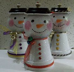 JD's Crafts Unique Handmade Gifts - Saints Snowman Candy Dish... Looks Great with LED Candle inside.,  $15.50