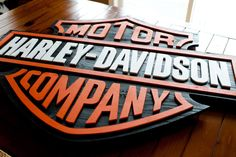 "Harley Davidson 42"" Wood Sign"