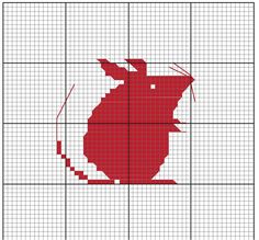 petite souris / Cross Stitching Mouse / Kreuzstich Maus