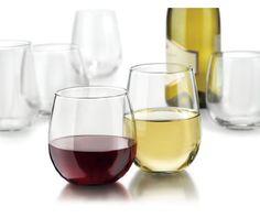 Stemless Wine Glassware set