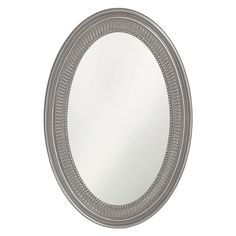 """21""""Ethan Glossy Nickel Oval Mirror Howard Elliott Collection Oval Mirrors Home Decor"""