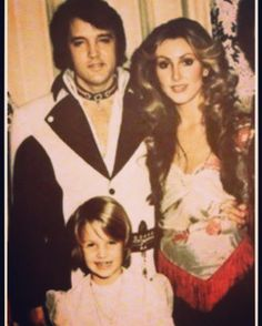 TBT-Vegas-Elvis with his arm tightly around me and adorable Lisa Marie with us. A LITTLE THING CALLED LIFE - my memoir...❤