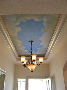 Entry ceiling mural