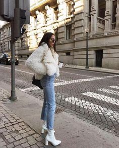 White fuzzy coat and white booties outfit White fuzzy coat and white booties outfit The post White fuzzy coat and white booties outfit appeared first on Berable. White fuzzy coat and white booties outfit White Fur Coat, White Boots, Fuzzy Coat, White Coat Outfit, White Fur Jacket, Fur Coat Outfit, Booties Outfit, Dress Boots, Baby Booties