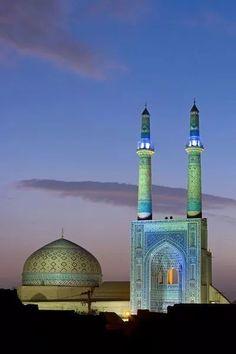 Beautiful Jame Masjid of Yazd, Iran.