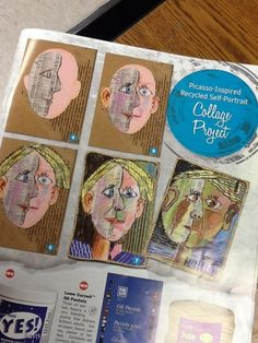 picasso collage - self portrait United Art & Education's recent Project Guide